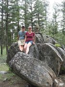 Rock Climbing Photo: My wife Jamie and I, with The Pebble about 120 yar...