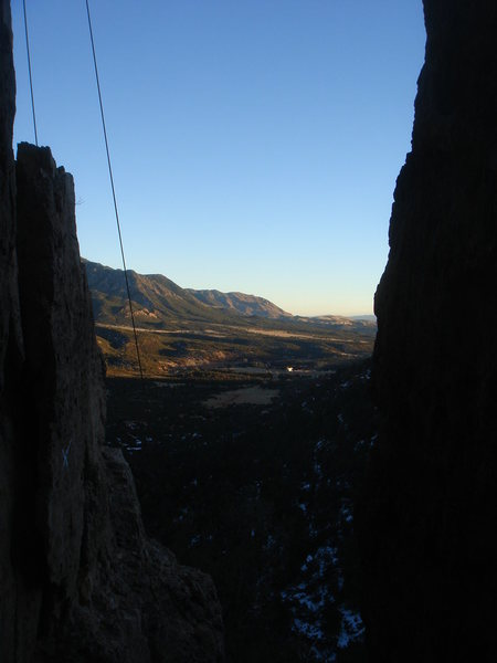 Rock Climbing Photo: End of another beautiful winter day at Shelf.