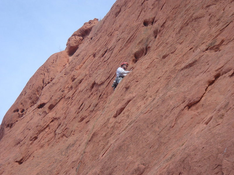 Rock Climbing Photo: Tidrick's (5.8) to Place in the Sun linkup.  At th...
