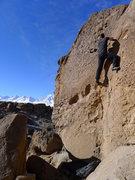 Rock Climbing Photo: Jascha on a warm January day