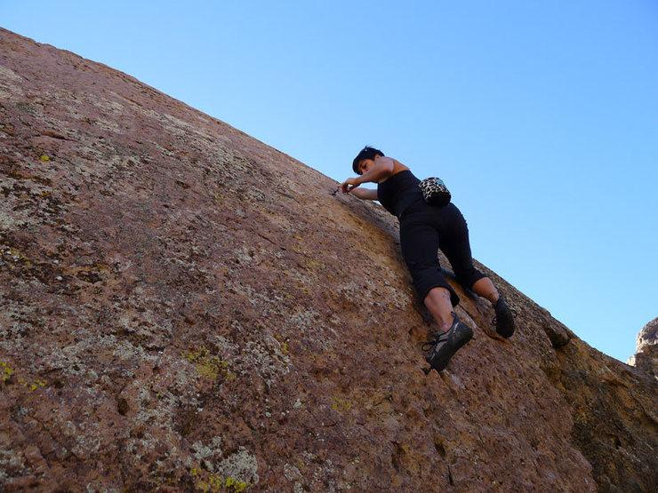 Rock Climbing Photo: at the finger crack