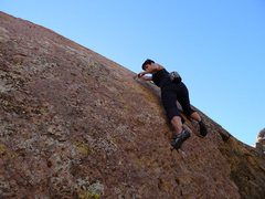 Rock Climbing Photo: at the finger crack