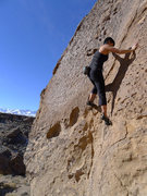 Rock Climbing Photo: the flake is supplemented by many pockets