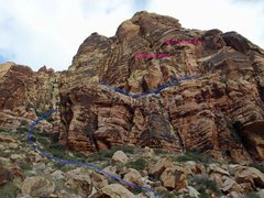 Rock Climbing Photo: Out of control crag overview from the approach jus...