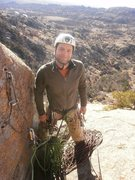 Rock Climbing Photo: Sitting atop the Tree Route on the Elk Slabs in Ok...