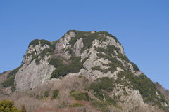 Rock Climbing Photo: Joyama from the approach road on a beautiful sunny...