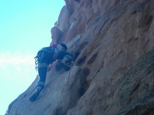 Rock Climbing Photo: Martin just at halfway.
