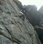Rock Climbing Photo: Just below crux.