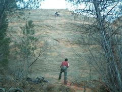 Rock Climbing Photo: View of entire route.