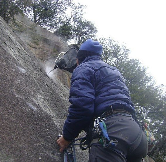 Rock Climbing Photo: P2 drill action