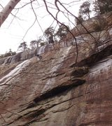 Rock Climbing Photo: climber is on Civil Disobedience.  Kenosis is to r...