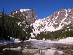 Rock Climbing Photo: Hallett Peak.