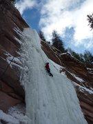 Rock Climbing Photo: Climbing the Redstone Pillar.