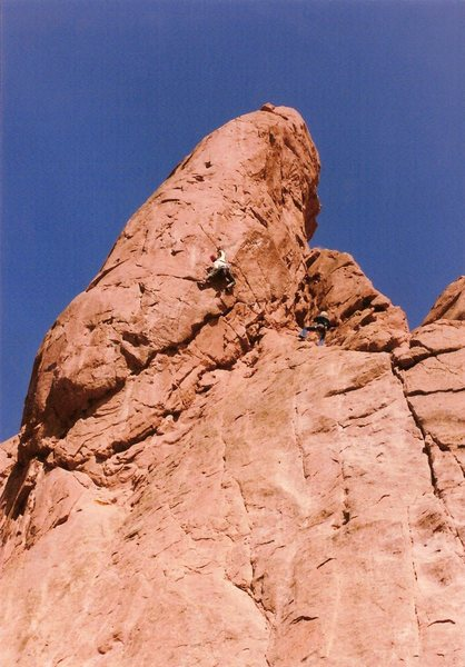 Richard leading the free variation of the Zipper, circa 1986.
