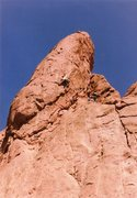Rock Climbing Photo: Richard leading the free variation of the Zipper, ...