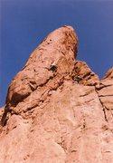 Rock Climbing Photo: Richard leading the free variation of the Zipper, ...