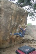 Rock Climbing Photo: Ryan starting out on The Crack, V3