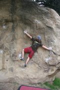 Rock Climbing Photo: Getting established on Masters of Reality, V5