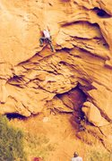 Rock Climbing Photo: Project - Breaking the Law (5.10?) - Day 2  starti...
