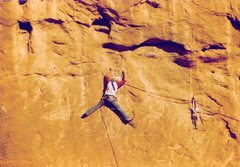 Rock Climbing Photo: Project - Breaking the Law (5.10?) - Day 2  workin...