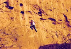 Rock Climbing Photo: Project - Breaking the Law (5.10?) - Day 2  time t...