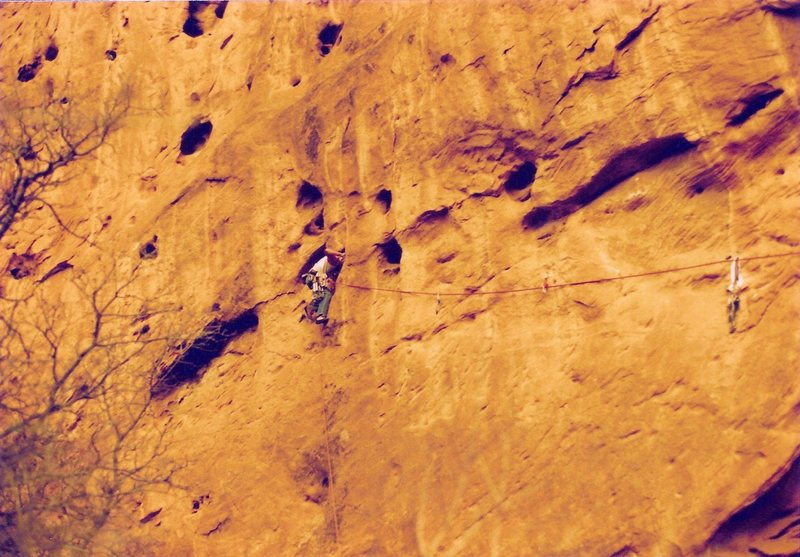 Rock Climbing Photo: Project - Breaking the Law (5.10?) - Day 2  puting...