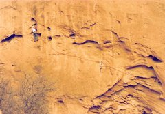 Rock Climbing Photo: Project - Breaking the Law (5.10?) - Day 2  placin...