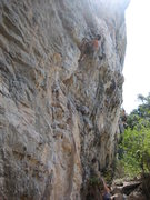 Rock Climbing Photo: Just after the crux.