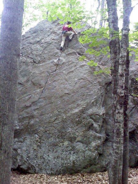 Rock Climbing Photo: Tim near the top.