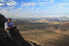 Rock Climbing Photo: Posing for the money shot with Four Peaks in the b...