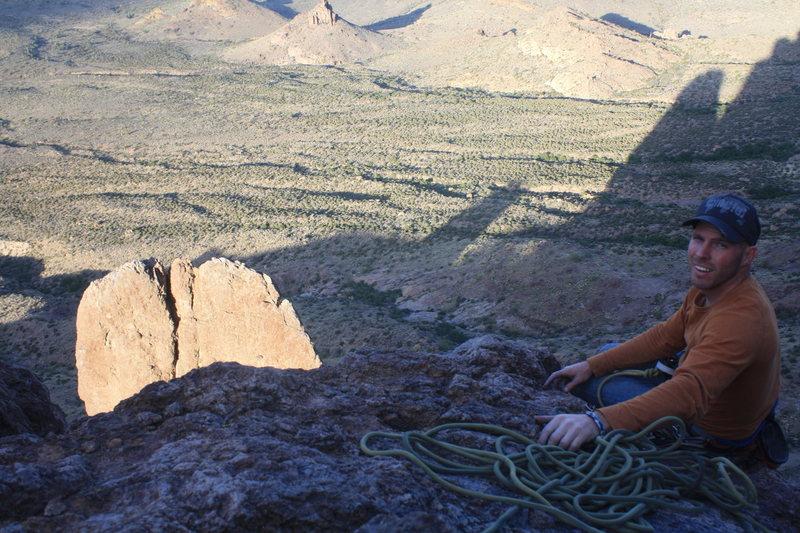 Rock Climbing Photo: bracing myself for J Dog's rap