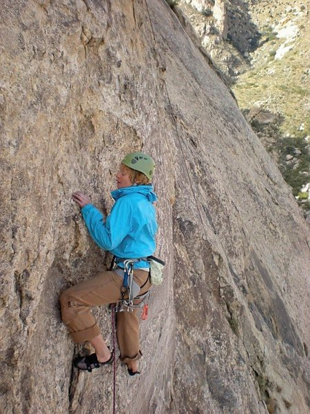 Rock Climbing Photo: last pitch.  this is the finish that goes straight...