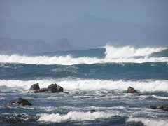 Rock Climbing Photo: Big waves at Kuau yesterday