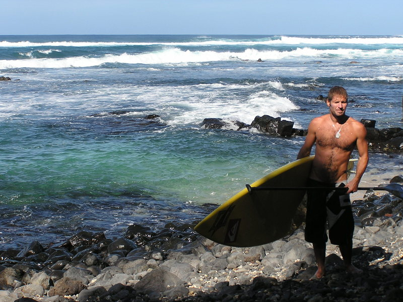 Rock Climbing Photo: Michi Schwiger on the beach after his solo sesh at...
