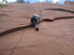 Rock Climbing Photo: Solar Flare (5.10a), Red Rock Canyon  Photo by Wes