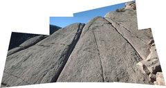 Rock Climbing Photo: 'I Lichen Offwidths' follows the offwidth crack on...