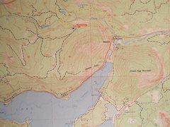 Rock Climbing Photo: Wildcat Wall Approach contour interval: 40 feet on...