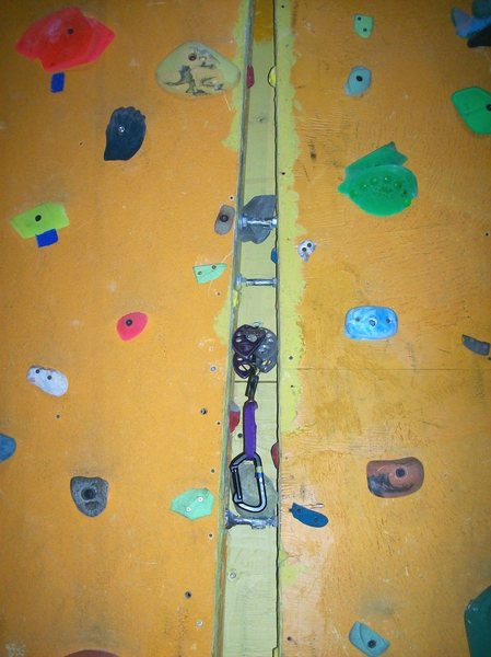 Rock Climbing Photo: Lower wide section of crack, with large cam insert...