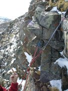 Rock Climbing Photo: Not the strongest belay...