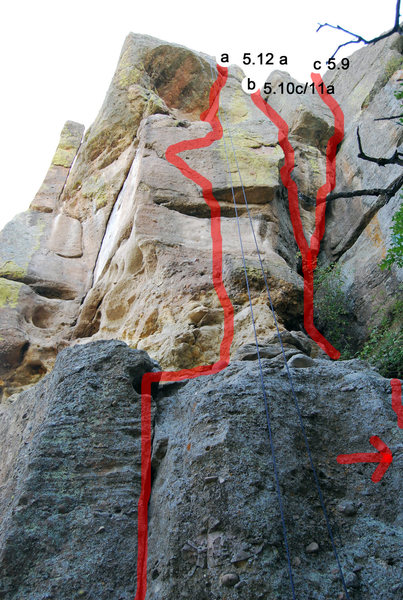 Rock Climbing Photo: Rising Sun, a couple of other routes.