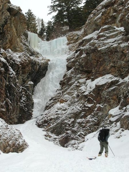 Rock Climbing Photo: Approaching Mineral Fork Ice.