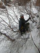 Rock Climbing Photo: Ahh...traverse on loose, deep snow and small, scra...