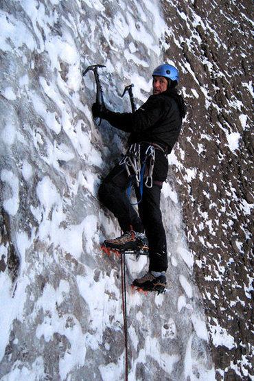 Rock Climbing Photo: Stone on ice.