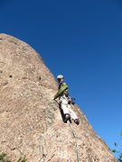 Rock Climbing Photo: 5-January-2011: Me on Dragonfly Dome, Regular Rout...