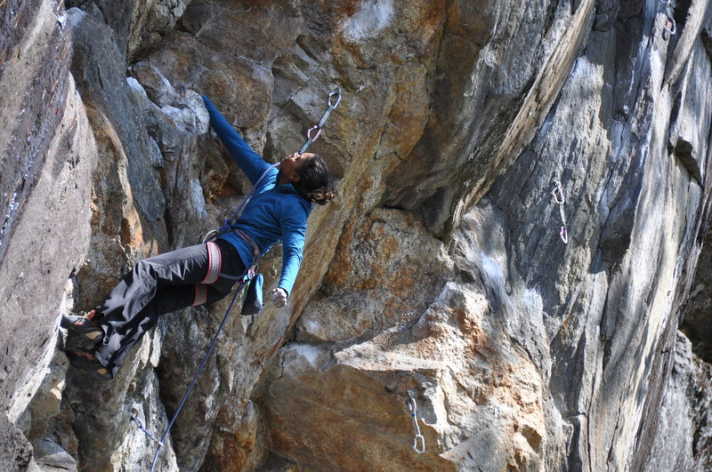 Rock Climbing Photo: unknown canadian climber on butt bongo