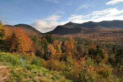 Rock Climbing Photo: white mountains and foilage