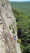 Rock Climbing Photo: unknown climber getting a little scared