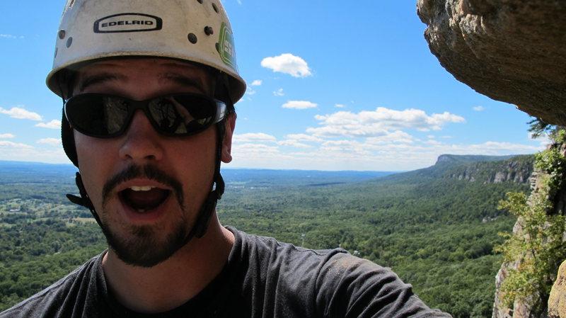 Rock Climbing Photo: me on the gt ledge