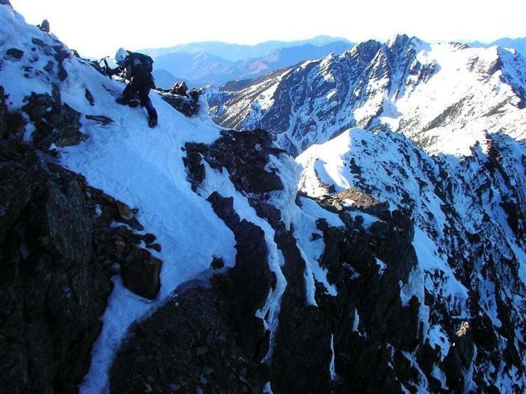 Rock Climbing Photo: (Mar 2005) On Yushan south ridge, the greatest alp...