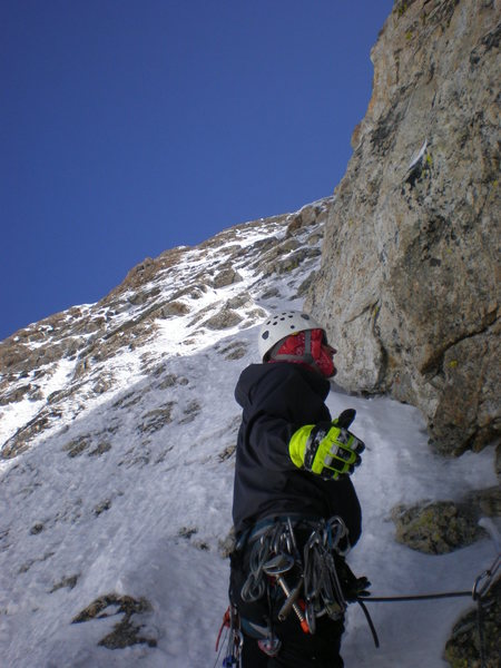 Rock Climbing Photo: last pitch to summit